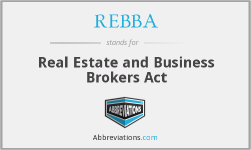What does REBBA stand for?