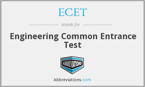 ECET - Engineering Common Entrance Test