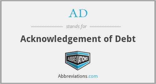 AD - Acknowledgement of Debt