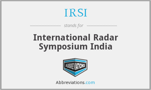 IRSI - International Radar Symposium India