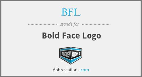 BFL - Bold Face Logo
