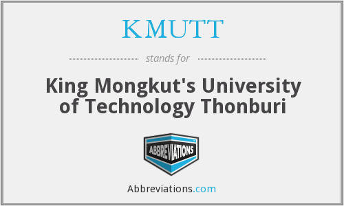KMUTT - King Mongkut's University of Technology Thonburi
