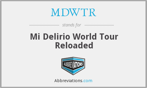 What does MDWTR stand for?