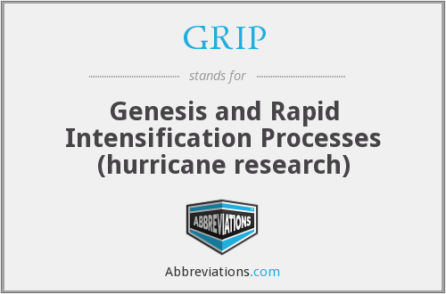 GRIP - Genesis and Rapid Intensification Processes (hurricane research)