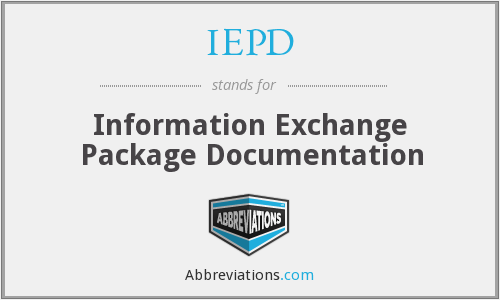 IEPD - Information Exchange Package Documentation