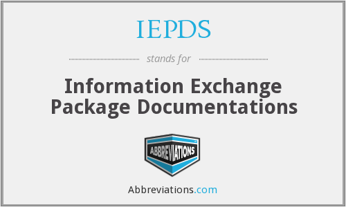 IEPDS - Information Exchange Package Documentations