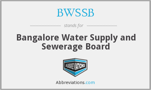 BWSSB - Bangalore Water Supply and Sewerage Board
