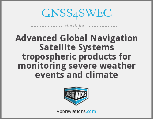 What does GNSS4SWEC stand for?