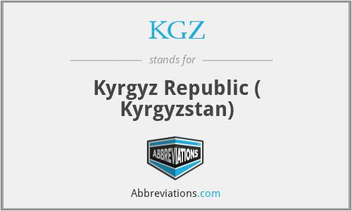 KGZ - Kyrgyz Republic ( Kyrgyzstan)