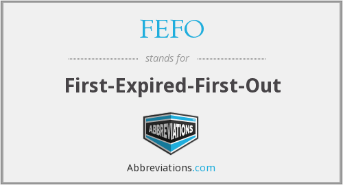 What does FEFO stand for?