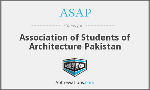 ASAP - Association of Students of Architecture Pakistan