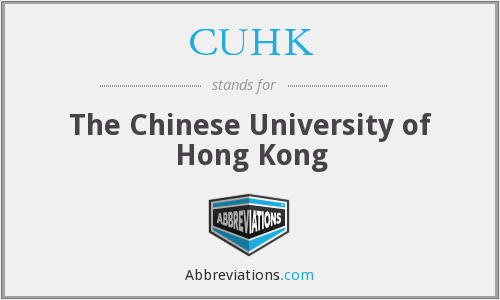 CUHK - The Chinese University of Hong Kong
