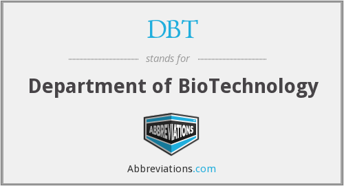 DBT - Department of BioTechnology