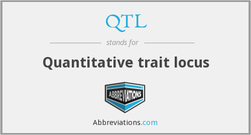 QTL - Quantitative trait locus