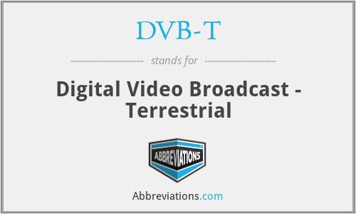 DVB-T - Digital Video Broadcast - Terrestrial