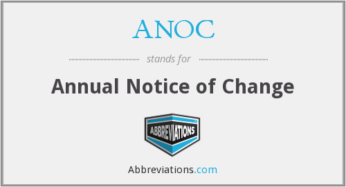 What does ANOC stand for?