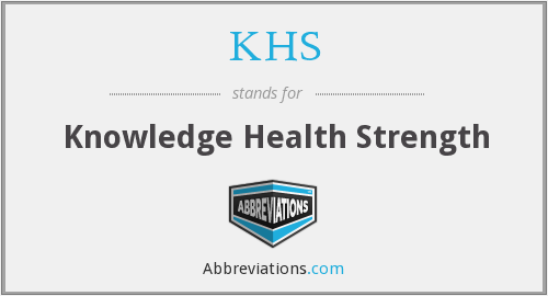 KHS - Knowledge Health Strength