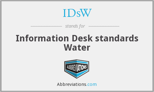 IDsW - Information Desk standards Water
