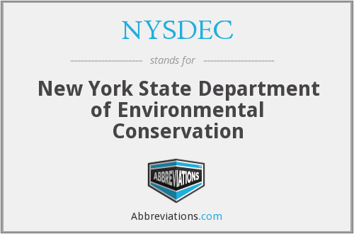 What does NYSDEC stand for?