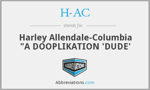 H-AC - Harley Allendale-Columbia