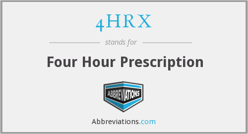 4HRX - Four Hour Prescription