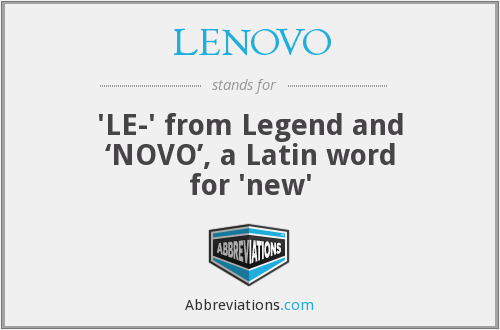What does LENOVO stand for?