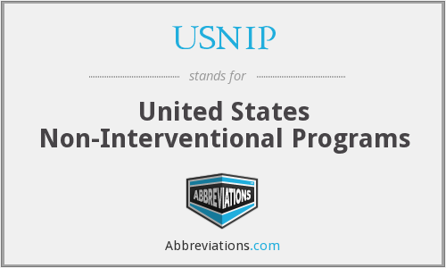 USNIP - United States Non-Interventional Programs