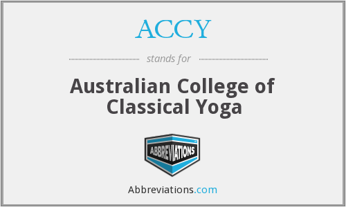 ACCY - Australian College of Classical Yoga