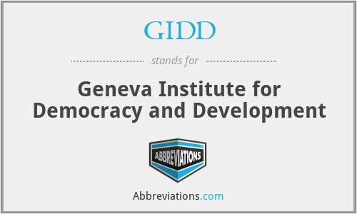GIDD - Geneva Institute for Democracy and Development