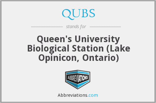 QUBS - Queen's University Biological Station (Lake Opinicon, Ontario)