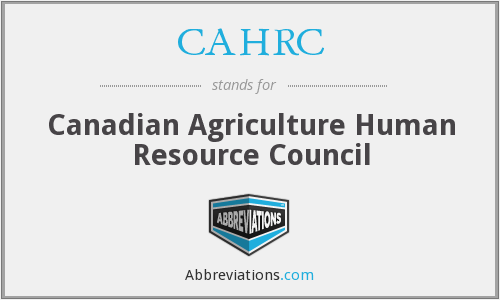 CAHRC - Canadian Agriculture Human Resource Council