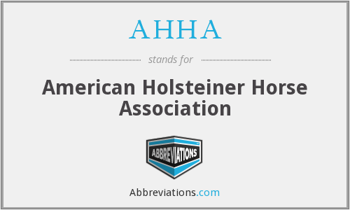 AHHA - American Holsteiner Horse Association