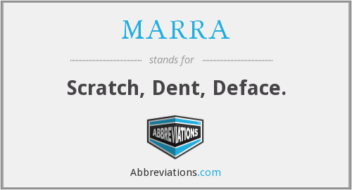 What does MARRA stand for?