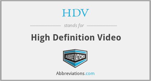 HDV - High Definition Video