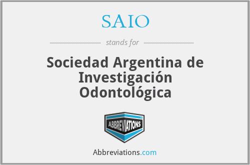 SAIO - Sociedad Argentina de Investigación Odontológica