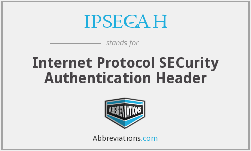 IPSEC-AH - Internet Protocol SECurity Authentication Header