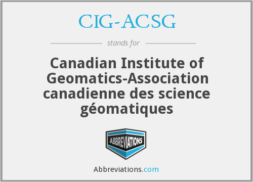 What does CIG-ACSG stand for?