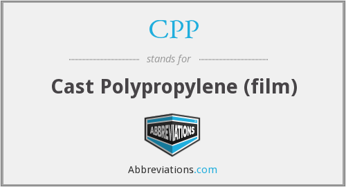CPP - Cast Polypropylene (film)
