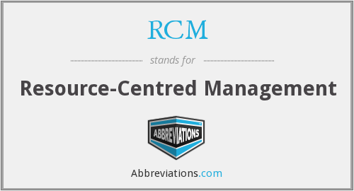 RCM - Resource-Centred Management
