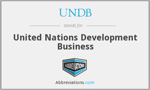 What does UNDB stand for?