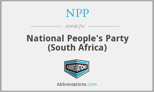 NPP - National People's Party (South Africa)
