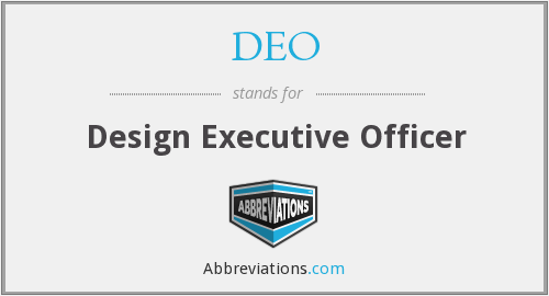 DEO - Design Executive Officer