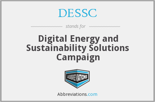 DESSC - Digital Energy and Sustainability Solutions Campaign