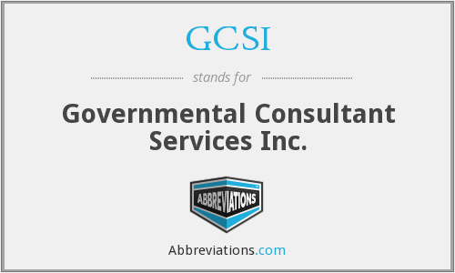 What does GCSI stand for?