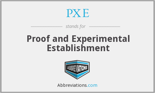 PXE - Proof and Experimental Establishment