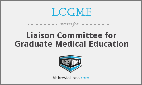 What does LCGME stand for?