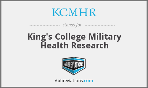 What does KCMHR stand for?
