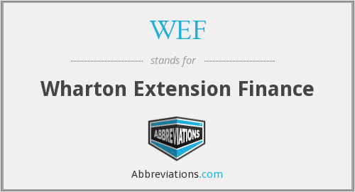 WEF - Wharton Extension Finance