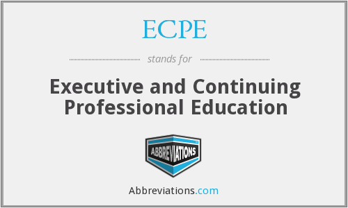 What does ECPE stand for?