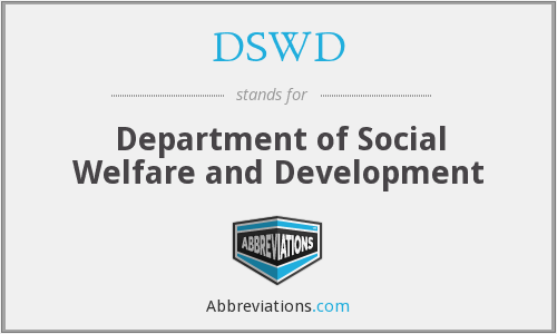 What does DSWD stand for?